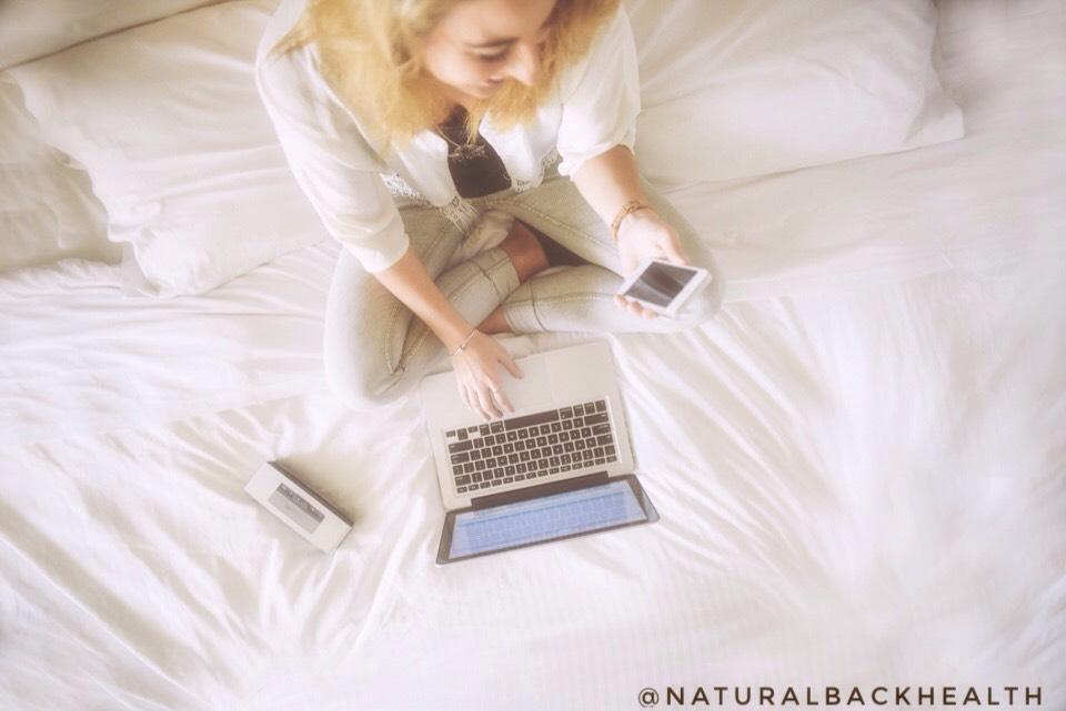 woman, bed, sleep, work, device, laptop, phone