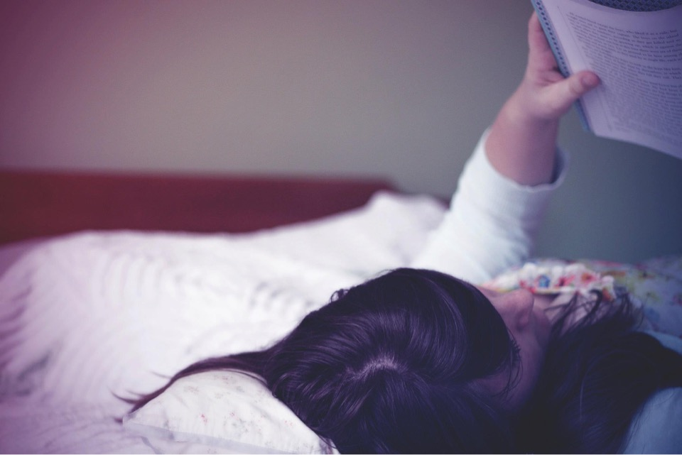 reading, book, sleep, bed. woman